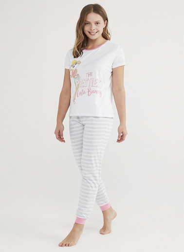 Penti Çok Renkli Lola Bunny Kısa Kollu Pijama Takımı Renkli